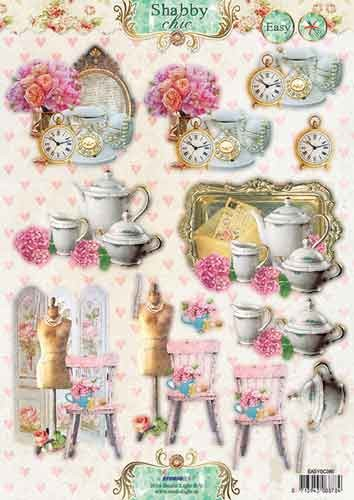 Stansvel A4 Shabby Chic