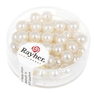 Rayher Renaissance Glasparels 6 mm wit