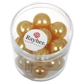 Rayher Renaissance Glasparels 12 mm zonnegeel