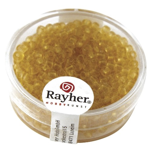 Rayher Rocailles transparant 2,6 mm bruin