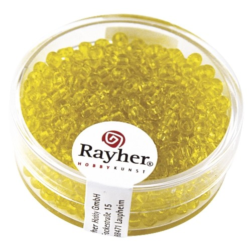 Rayher Rocailles transparant 2,6 mm geel