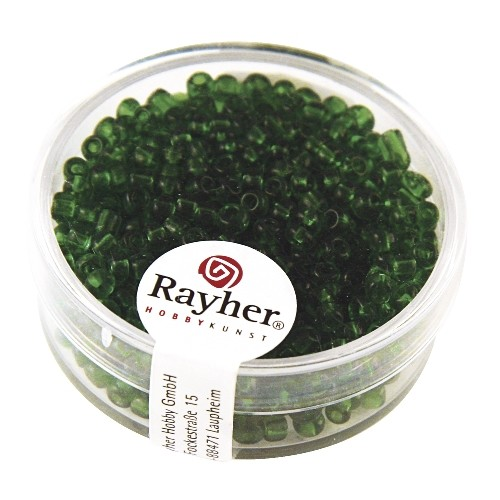 Rayher Rocailles transparant 2,6 mm groen