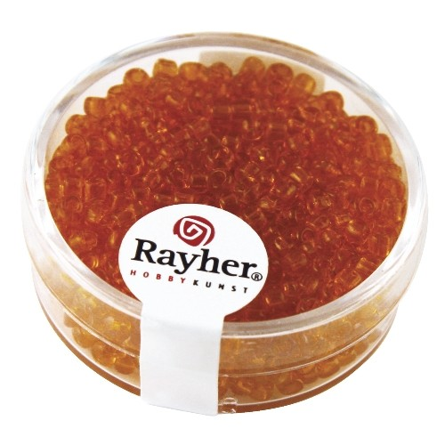 Rayher Rocailles transparant 2,6 mm oranje
