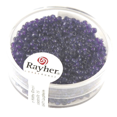 Rayher Rocailles Transparant Lustré 2 mm donkerblauw