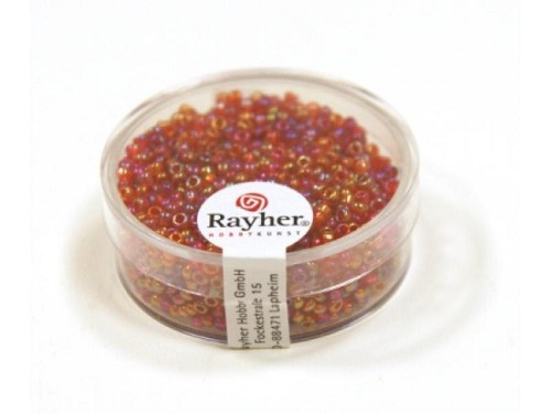 Rayher Rocailles Transparant Lustré 2 mm wijnrood