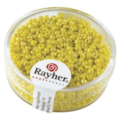 Rayher Rocailles Opaak 2 mm geel