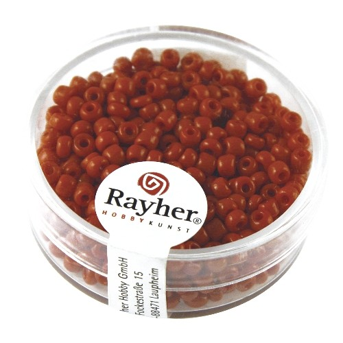 Rayher Rocailles Opaak 2,6 mm rood