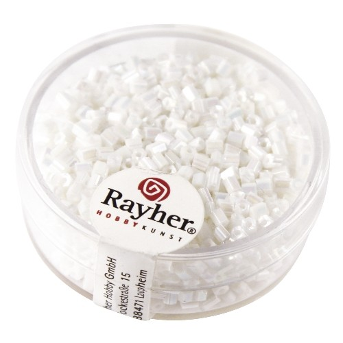 Rayher Glasstiften Opaak Lustré 2x2 mm wit