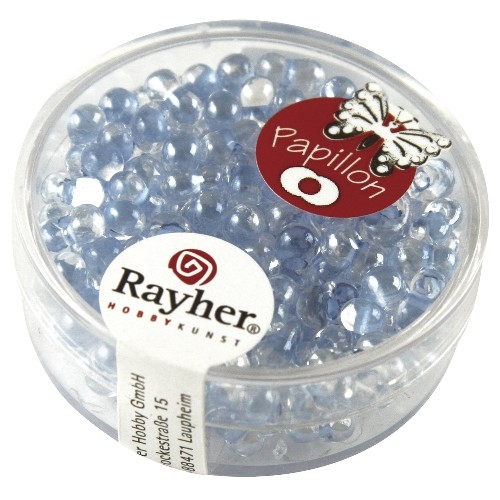 Rayher Papillon-Rocailles 3,2x6,5 mm lichtblauw