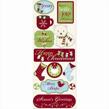 Chipboard stickers Warm Wishes