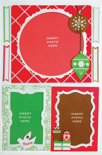 Martha Stewart Frames stickers Scandinavian Christmas