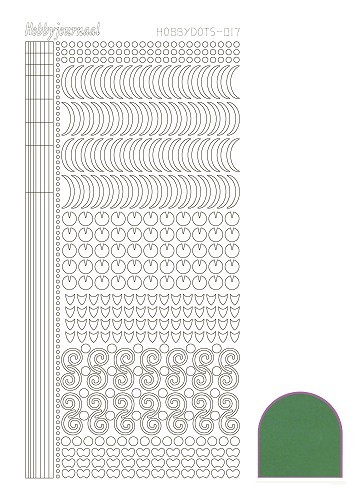 Hobbydots stickervel Serie 17 Mirror Green