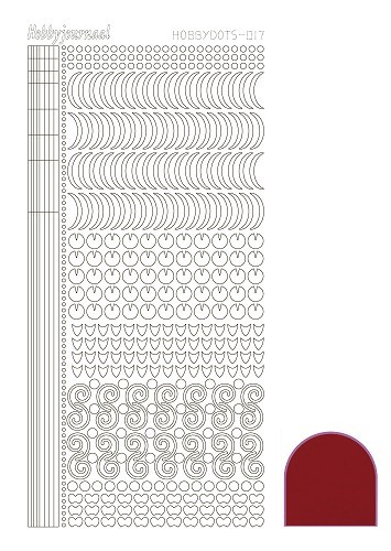 Hobbydots stickervel Serie 17 Mirror Red