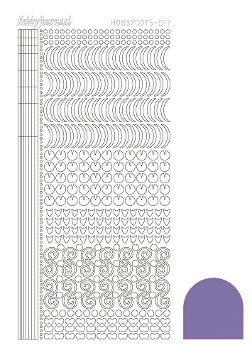Hobbydots stickervel Serie 17 Mirror Purple