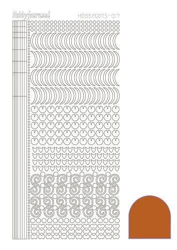 Hobbydots stickervel Serie 17 Mirror Copper