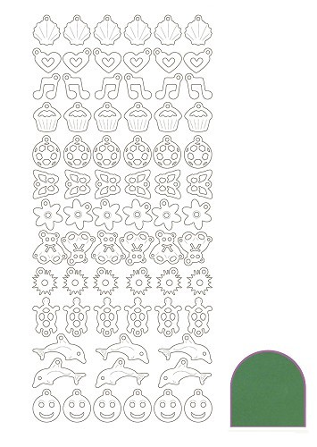 Charm sticker - Mirror Green