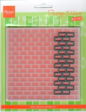 Marianne Design Snij- en Embossing Folder Extra Bricks