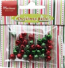 Marianne Design Christmas Bells Red-Green