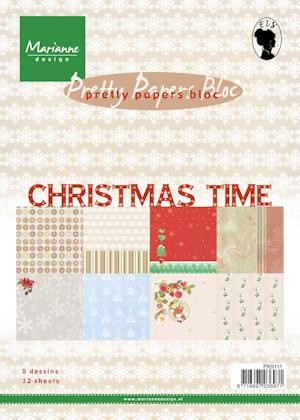 Marianne Design Paper Bloc Christmas Time