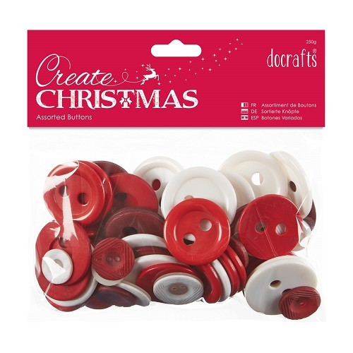 Assorted Buttons 250g - Nordic Christmas