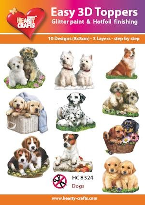 Easy 3D Toppers Dogs
