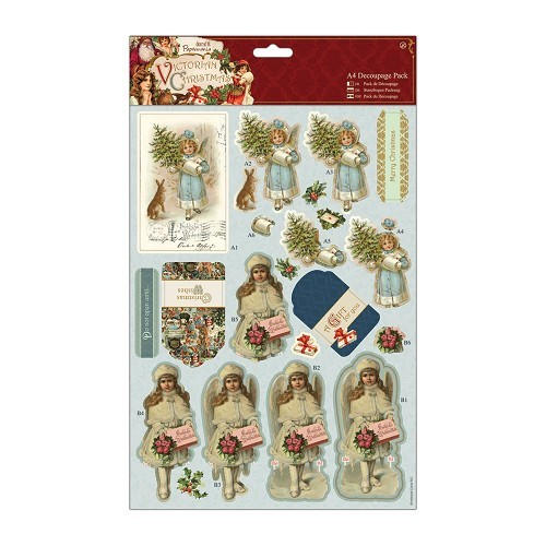 Papermania stansvellen set A4 Victorian Christmas - Boy & Girl