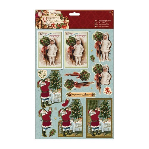 Papermania stansvellen set A4 Victorian Christmas - Holly