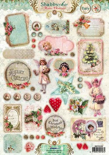 Stansvel A4 Shabby Chic - Winter Christmas