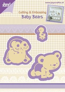 Joy Cutting & Embossing Stencil baby bears
