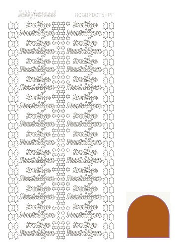Hobbydots stickervel Prettige Feestdagen Mirror Brown