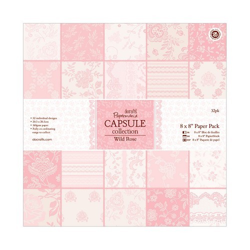 Docrafts Papermania Paper Pack 20,3x20,3cm Wild Rose