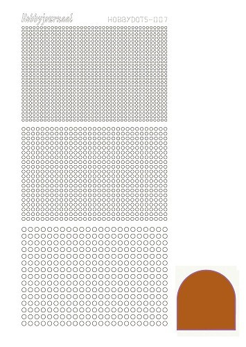 Hobbydots stickervel Serie 7 Mirror Brown