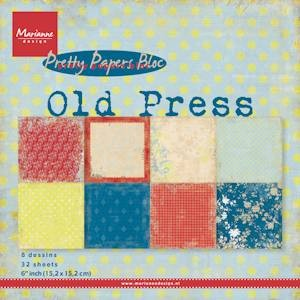 MD Pretty Papers bloc Old Press 15x15cm.