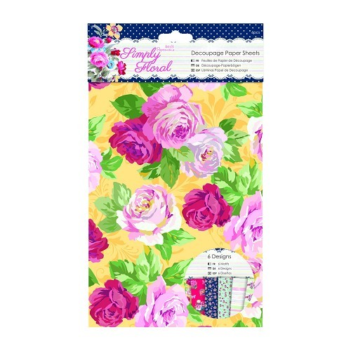 A5 Decoupage Paper Sheets (6pcs) - Simply Floral