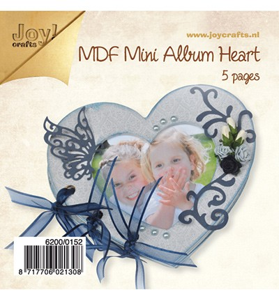 Joy MDF Mini Album Heart 13x15cm