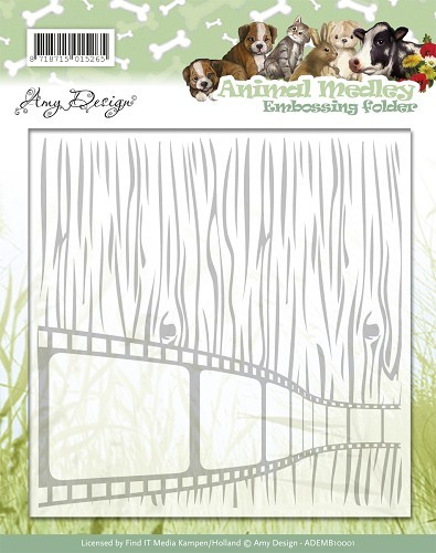 Embossing Folder Amy Design - Animal Medley