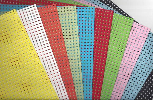 Perforated karton 24 x34 cm 10 vellen