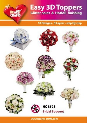 Easy 3D Toppers Bridal Bouquet