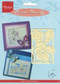 Marianne Embossing stencil Engels Pansy