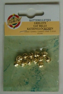 Kattebelletjes goud 6 mm.