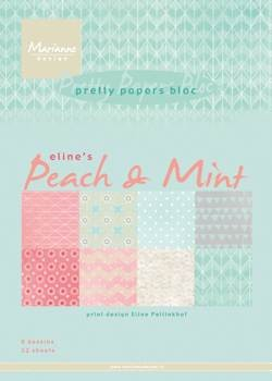MD Pretty Papers bloc Eline`s peach & mint