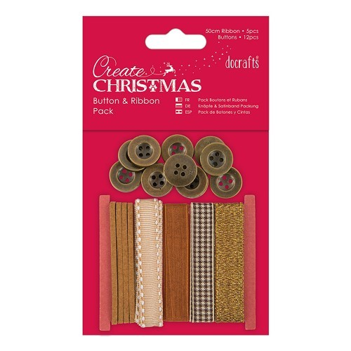 Button and Ribbon Pack - Bronze