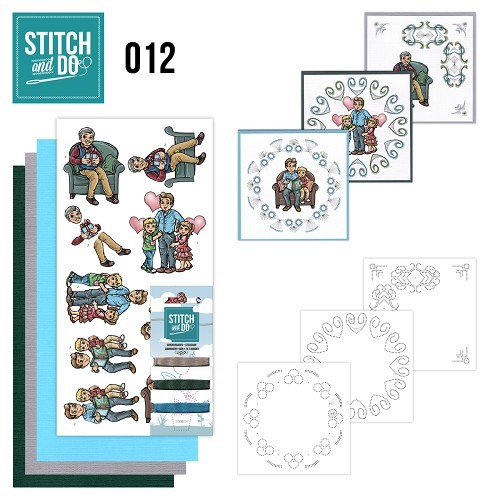 Borduurpakketje Stitch & Do 12 - Vaderdag