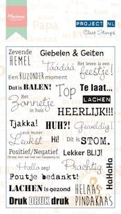 MD Clear Stamp teksten - emoties