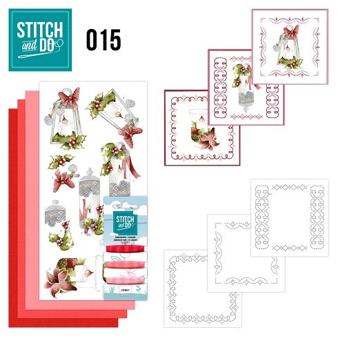 Borduurpakketje Stitch & Do 15 - Kaarsen