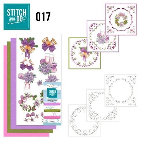 Borduurpakketje Stitch & Do 17 - Christmas