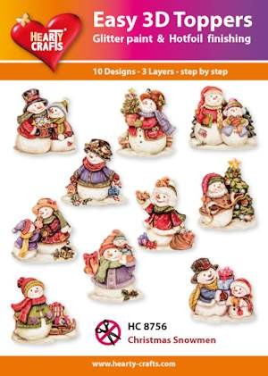 Easy 3D Toppers Christmas Snowmen