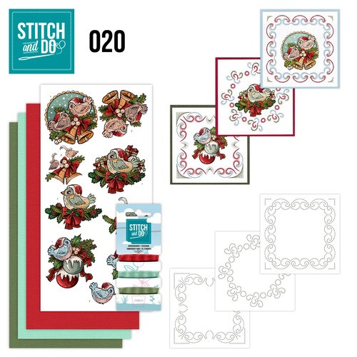 Borduurpakketje Stitch and Do 20 - Christmas Tweety