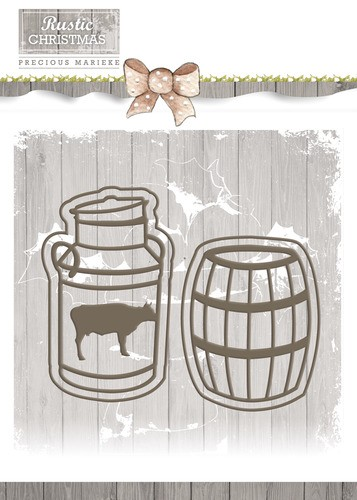 Die - Marieke - Rustic Christmas Milk Churn and Barrel