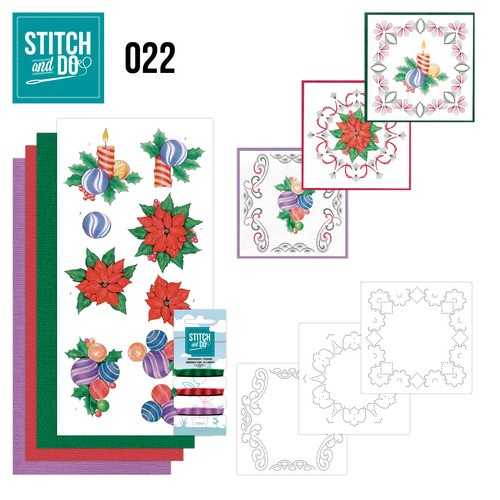 Borduurpakketje Stitch and Do 22 - Christmas